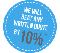 We will beat any written quote by 10%